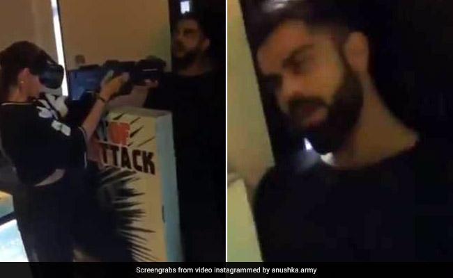 IPL 2019: विराट कोहली को 'गोलियां' मारने लगीं अनुष्का शर्मा, फिर 'चीकू' ने किया ऐसा, देखें VIDEO