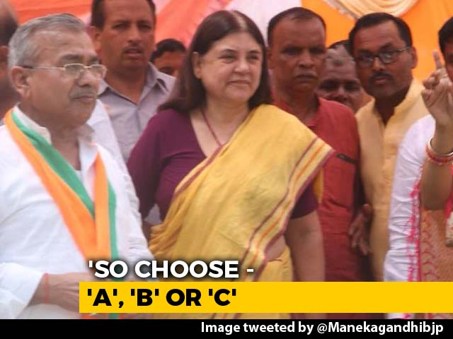 "Video : Now, Maneka Gandhi's ""ABCD"" Grading Of Villages Based On Votes For BJP"