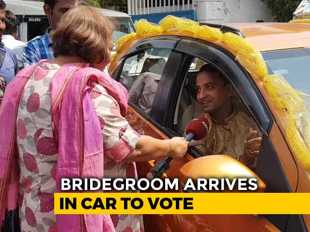 In Decorated Car, Bengal Groom Drives 20 Km To Vote Day After Wedding