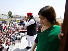 Dimple Yadav Files Poll Papers For Her Third Fight From UP's Kannauj Seat
