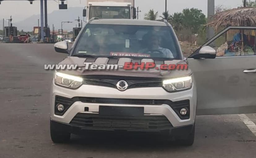 The SsangYong Tivoli test mule spotted in India is a Left-Hand-Drive (LHD) model