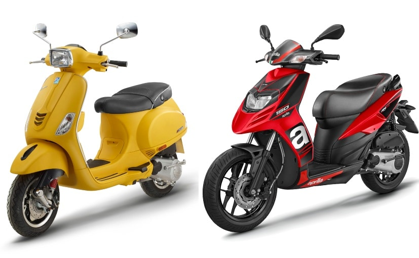 The Aprilia SR 150 and the Vespa 150 now gets single-channel ABS as standard