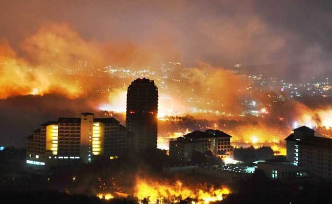 South Korea Declares National Disaster As Winds Fan Giant Forest Fire