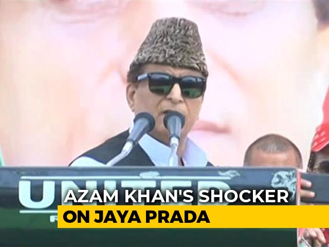 "Video : BJP Tears Into Azam Khan For ""Khaki Underwear"" Comment Against Jaya Prada"