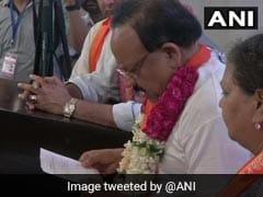 BJP Candidates Harsh Vardhan, Manoj Tiwari File Nominations In Delhi