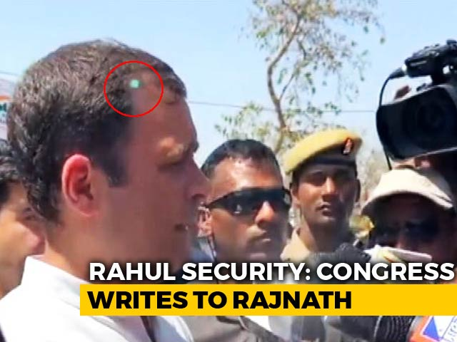 Video : Laser Pointed At Rahul Gandhi, Security Breach, Congress Tells Government