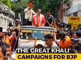 Video : Ex-WWE Wrestler 'The Great Khali' Campaigns For BJP's Jadavpur Candidate Anupam Hazra
