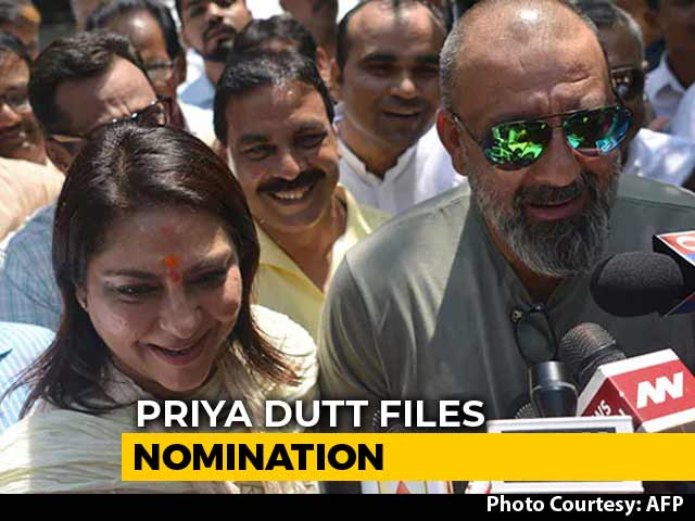 "Video : ""Always With Her"": Sanjay Dutt On Sister Priya Dutt, Congress Candidate"