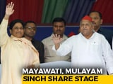 Video: Mulayam Singh, Mayawati - Enemies For Over 2 Decades - Together On Stage