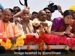 Smriti Irani Traces Rahul Gandhi's Route In Amethi As She Makes A Point