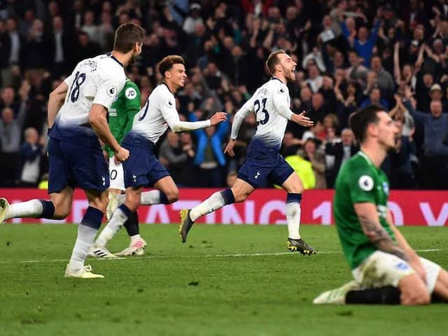 Christian Eriksen Late Show Keeps Tottenham On Course For Top Four Finish