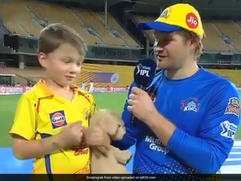 Watch: MS Dhoni And Watson Junior Are High-Five Buddies