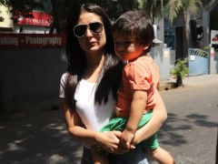 Kareena Kapoor Takes Son Taimur Along To Cast Her Vote