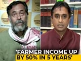 Video : Viral: Yogendra Yadav vs BJP's Vivek Reddy On Claim That Farm Income Up 50%