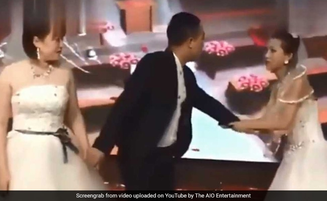 Woman Crashes Ex's Wedding In Bridal Gown, Shocking Video Goes Viral