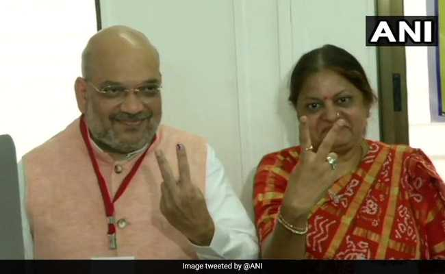 Amit Shah, Wife Vote In Ahmedabad As He Faces Big Test Today