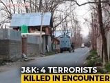 Video : 3 Security Personnel Injured, 4 Terrorists Killed In J&K's Pulwama