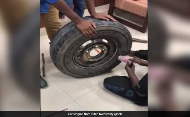 Watch: Rs 2.3 Crore Cash Seized From Car's Spare Tire In Karnataka