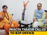 "Video : In 4-Hour Meet, Pragya Thakur Told By BJP To ""Avoid Provocative Remarks"""