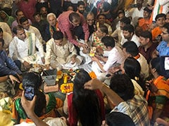 Elections 2019: With <i>Puja</i> And A Promise, BJP's Gautam Gambhir Goes To File Poll Papers