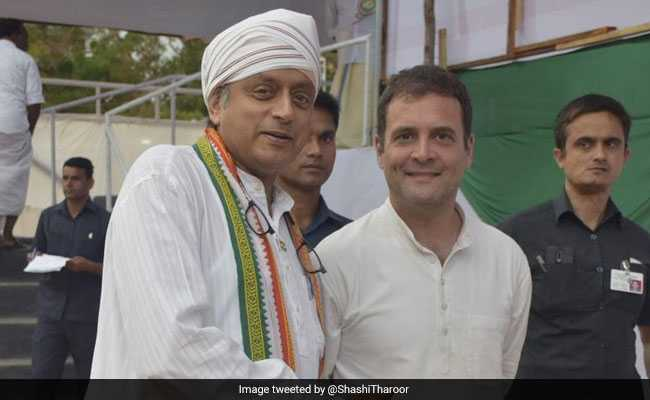 Election 2019: Shashi Tharoor Campaigns Day After Injury, Wins Rahul Gandhi's Praise