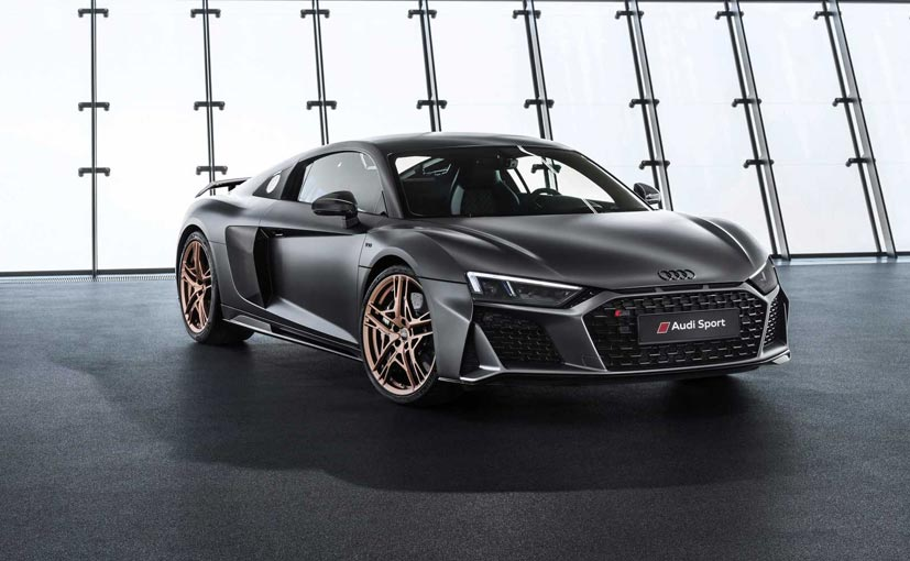 The Audi R8 V10 Decennium is a limited edition model only 222 examples of which will be produced.