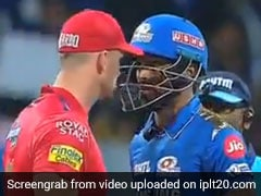 MI vs KXIP: Hardik Pandya, Hardus Viljoen Engage In Epic Staredown Battle - Watch