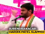 Video : Congress Leader Hardik Patel Slapped At Gujarat Rally, Caught On Camera