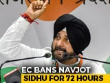Video : Navjot Sidhu Barred From Campaigning For 72 Hours For Violating Poll Code