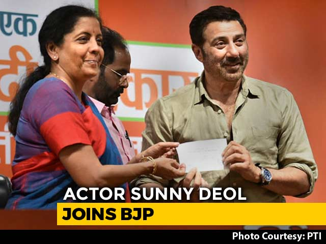 """Video : """"Want PM Modi For The Next 5 Years,"""" Says Sunny Deol After Joining BJP"""