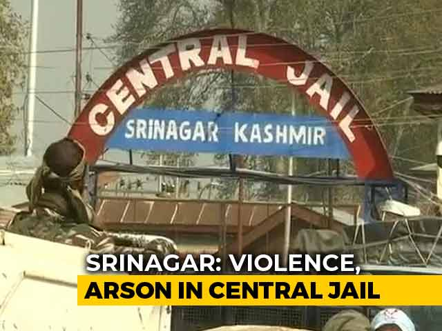 Video : Gas Cylinder Explosion, Barrack Burnt In Overnight Srinagar Jail Violence