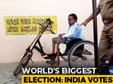 Video : This Differently-Abled Man Reaching A Polling Booth To Vote Is Winning Hearts