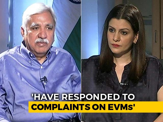 "Video : ""Can't Tamper EVM, But Machines Malfunction"": Chief Election Commissioner"
