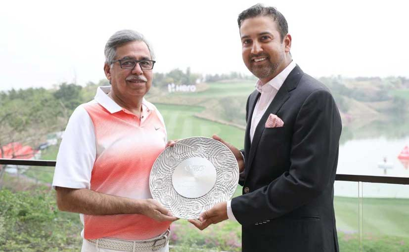 Dr. Munjal was presented with a 'Special Achievement Award' for Outstanding Contribution to Golf in Asia