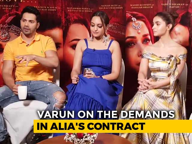 Alia's Contract Has A List Of Demands: Varun Dhawan