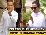 Video : Anil Ambani, Actor Rekha Cast Vote As Polling Begins In Mumbai