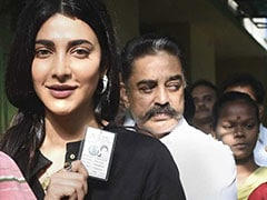 "General Elections 2019: ""Today Is The Day"" - Kamal Haasan, Daughter Shruti Vote Early In Chennai"