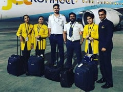 Crew Of Jet Airways' Last Flight Pose For A Final Photo