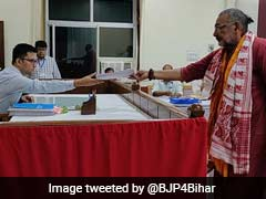 Giriraj Singh Files Nomination From Bihar's Begusarai Constituency