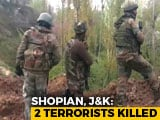 Video : 2 Terrorists Killed In Encounter In Jammu And Kashmir's Shopian