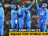 Video : World Cup Team Announced; Dinesh Karthik Included, Rishabh Pant Left Out