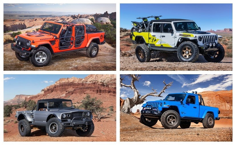 All six Jeep concepts for this year's Easter Safari are based on the Gladiator