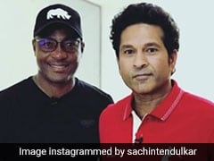 "Sachin Tendulkar Meets Brian Lara To ""Discuss Cricket, Golf And More"""