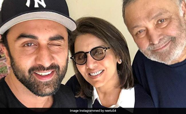 Neetu Kapoor Posts Selfies With Husband Rishi And Son Ranbir: 'Amazing Feeling In Your Lows'