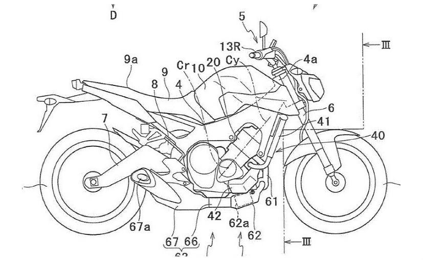 Yamaha patent images reveal a turbocharged engine