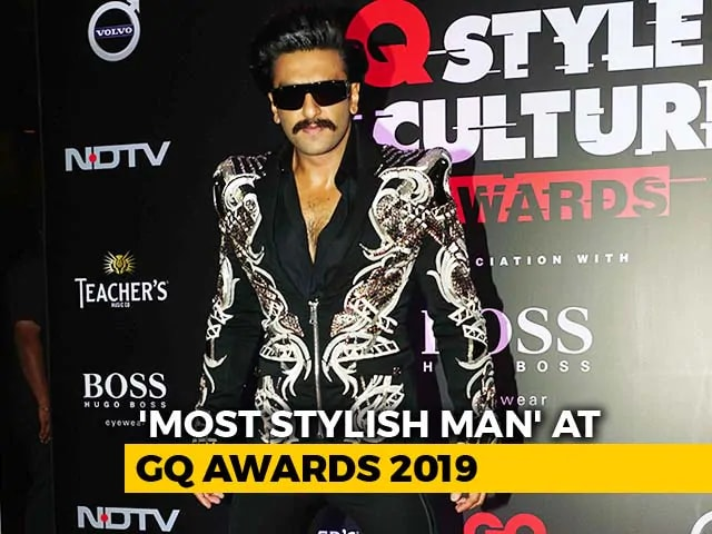 GQ Style & Culture Awards: Ranveer Singh Is The 'Most Stylish Man'