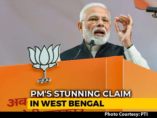 "Video : ""Didi, 40 Of Your Lawmakers In Touch With Me"": PM Modi's Stunning Claim"