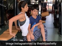 When Shilpa Shetty Swapped Weights For 6-Year-Old Son Viaan In Mom-Special Work-Out