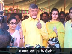 Andhra Chief Minister, Family Members Cast Votes In Amaravati