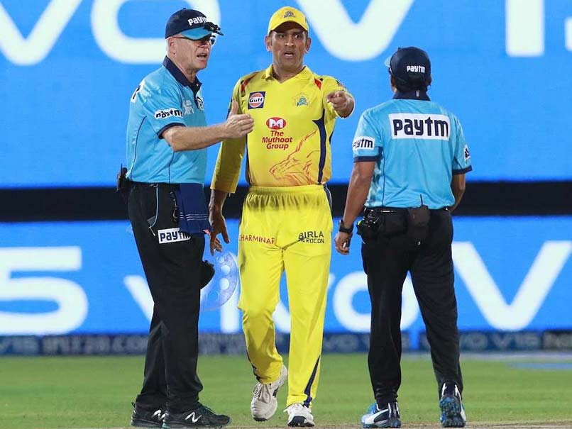 Watch: MS Dhoni Storms Onto The Field To Confront Umpires After No-Ball Controversy